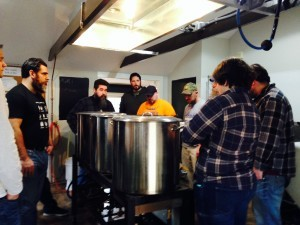 Schenectady Community College students brewing at Helderberg Brewery